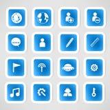Social color Media Circles Icon. Network Vector Stock Image