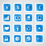 Social color Media Circles Icon Stock Photography