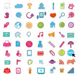 Social color Media color Icon Royalty Free Stock Photography