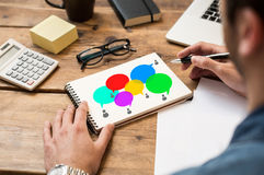 Social communication stock image