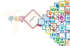 Social Communication design Stock Images
