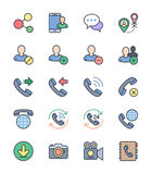 Social Communication icons, Color set - Vector Illustration Stock Photography