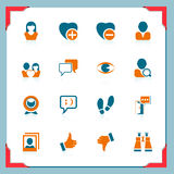 Social and communication icons | In a frame series Royalty Free Stock Photography