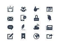 Social and communication icons Royalty Free Stock Photos