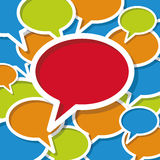 Social Communication Network. Vector illustration Social media with lots of colorful speech bubbles Royalty Free Stock Photography