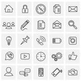 Social communication set on squares white background stock illustration
