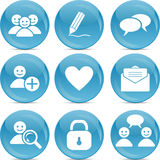 Social communication web icons Stock Photo