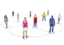 Social Communications Community Diverse Concept.  royalty free stock image