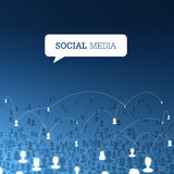 Social communications concept. Vector Royalty Free Stock Photos