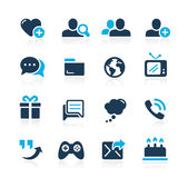 Social Communications Icons // Azure Series Royalty Free Stock Images
