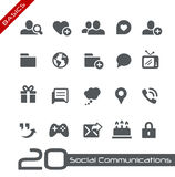 Social Communications Icons // Basics Royalty Free Stock Photo