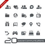 Social Communications Icons // Basics Royalty Free Stock Photo