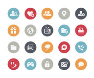 Social Communications Icons // Classics Series Royalty Free Stock Photos