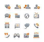 Social Communications Icons -- Graphite Series Royalty Free Stock Image