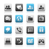 Social Communications Icons, Matte Series Royalty Free Stock Photography