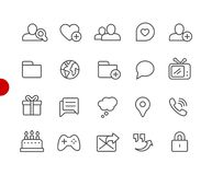 Social Communications Icons // Red Point Series Vector Illustration