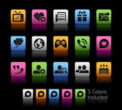 Social Communications Icons  Royalty Free Stock Photos