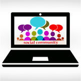 Social community chat Stock Images