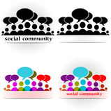 Social community forum Stock Photo
