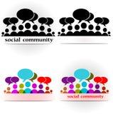 Social community forum. Vector illustration of colorful icons social community forum Stock Photo