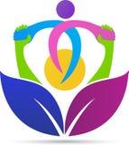 Social community logo. A vector drawing represents social community logo design royalty free illustration