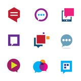 Social community share and interaction chat logo bubble message icon Stock Images