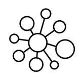 Social community vector icon. Social community vector abstract icon Royalty Free Stock Photo