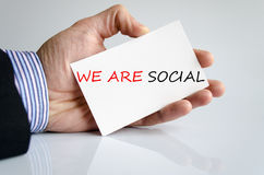 We Are Social Concept Stock Photo