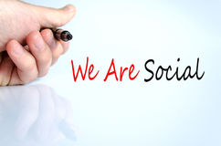 We Are Social Concept Stock Images
