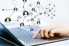 Social connection and networking Stock Image