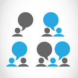 Social connection pictograms Royalty Free Stock Images