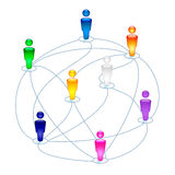 Social connections icon Stock Images