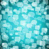 Social contact background. Vector social contact background white on blue Royalty Free Stock Images