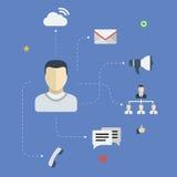 Social contacts vector illustration