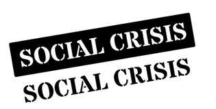 Social Crisis black rubber stamp on white. Print, impress, overprint Royalty Free Stock Photo