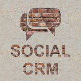 Social CRM Concept on the Wall. Royalty Free Stock Photos