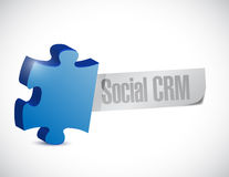Social crm puzzle piece illustration design Royalty Free Stock Image