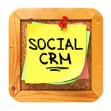 Social CRM. Yellow Sticker on Bulletin. Stock Photos
