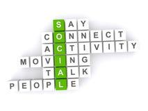 Social crossword Royalty Free Stock Photos