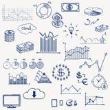 Social del infographics de la gestión de las finanzas del negocio ilustración del vector