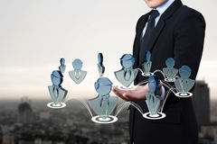 Social del negocio. Imagenes de archivo