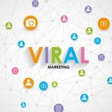 Social design för illustration för massmediabegreppsvektor Arkivfoton