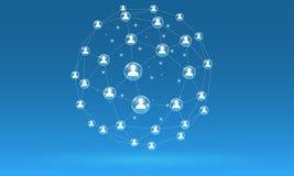 Social digital network. Technology  Internet  Concepts Stock Image