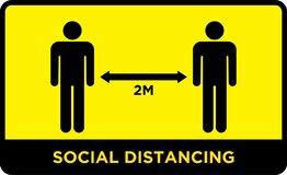 Free Social Distancing Banner. Keep The 2 Meter Distance. Royalty Free Stock Image - 182731106