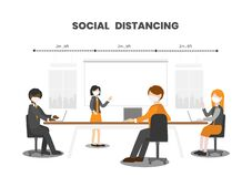 Free Social Distancing Conference Royalty Free Stock Images - 182252829