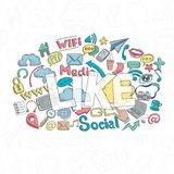 Social Doodle Like Royalty Free Stock Images