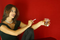 Social Drinking Woman Royalty Free Stock Photo
