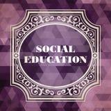 Social Education Concept. Vintage design. Royalty Free Stock Photos