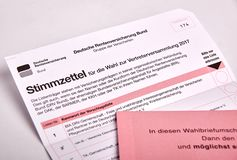 Social election in Germany - Sozialwahl Royalty Free Stock Images
