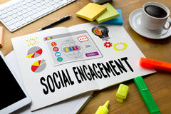 SOCIAL ENGAGEMENT  Analytics and data science of social networks Royalty Free Stock Photo